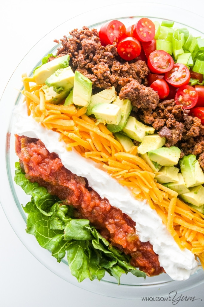 Healthy Ground Beef Tacos  Easy Healthy Taco Salad Recipe with Ground Beef