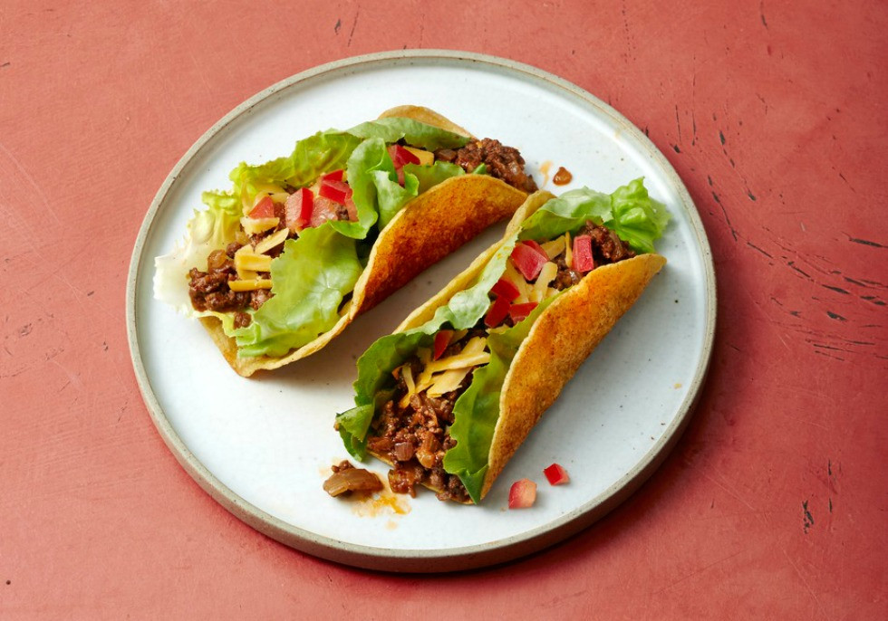 Healthy Ground Beef Tacos  Ground Beef Tacos with Spicy Shells