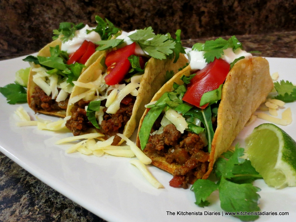 Healthy Ground Beef Tacos  Angela s Ground Beef Tacos The Kitchenista Diaries