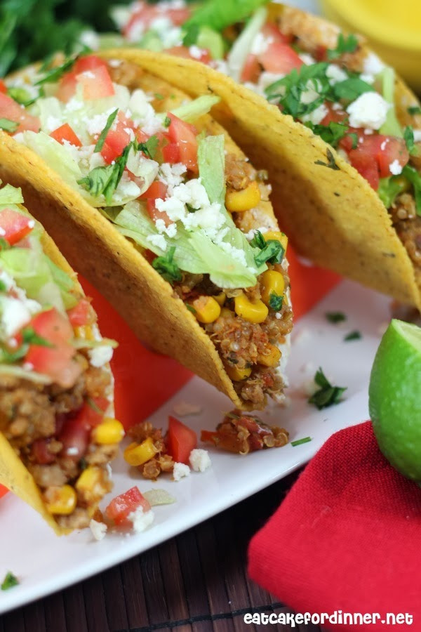 Healthy Ground Beef Tacos  Eat Cake For Dinner Ground Beef Quinoa Tacos