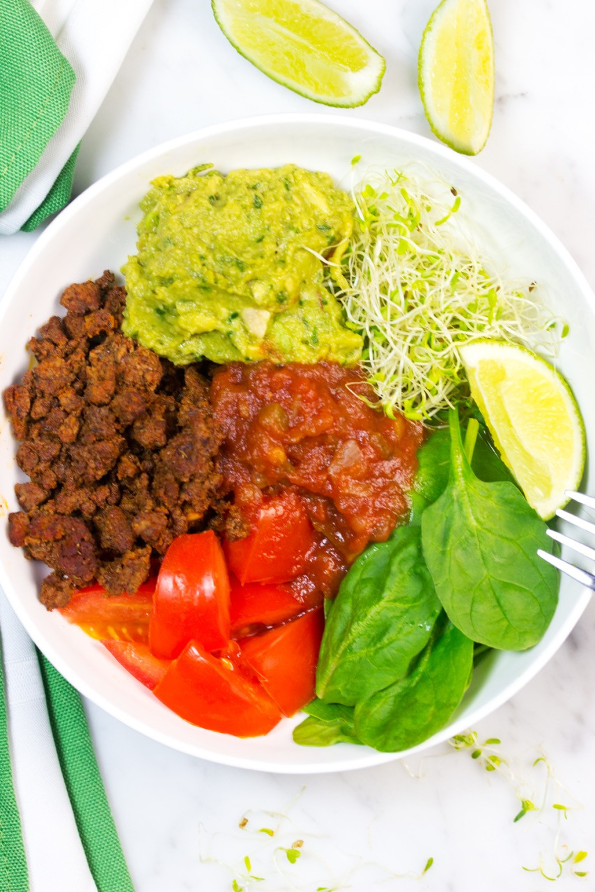 Healthy Ground Beef Tacos  Skinny Low Carb Taco Bowls Gluten Free Homestead