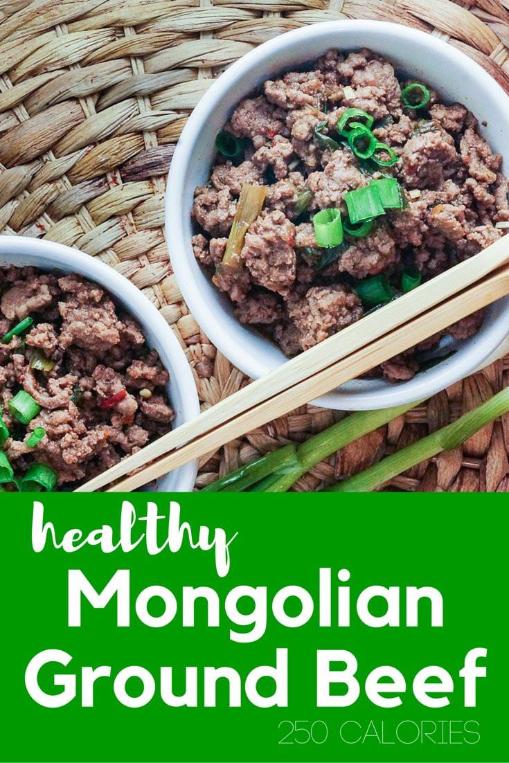 Healthy Ground Beef  Healthy Mongolian Ground Beef Slender Kitchen