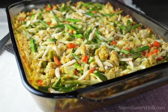 Healthy Ground Chicken Casserole  Chicken Ve able Casserole Amee s Savory Dish