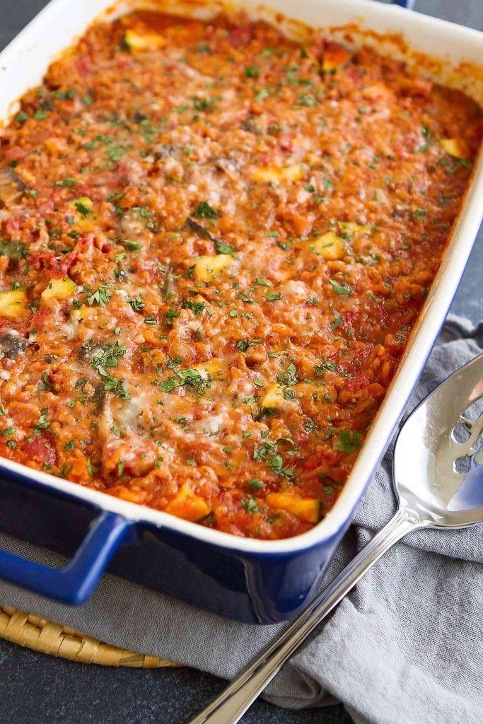 Healthy Ground Chicken Casserole  Healthy Turkey Zucchini & Rice Casserole Easy Dinner Recipe