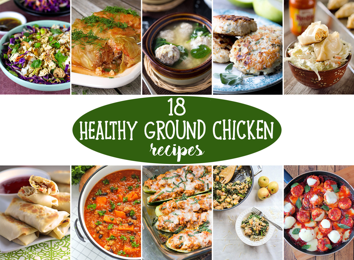 Healthy Ground Chicken Recipes  18 Healthy Ground Chicken Recipes That ll Make You Feel Great