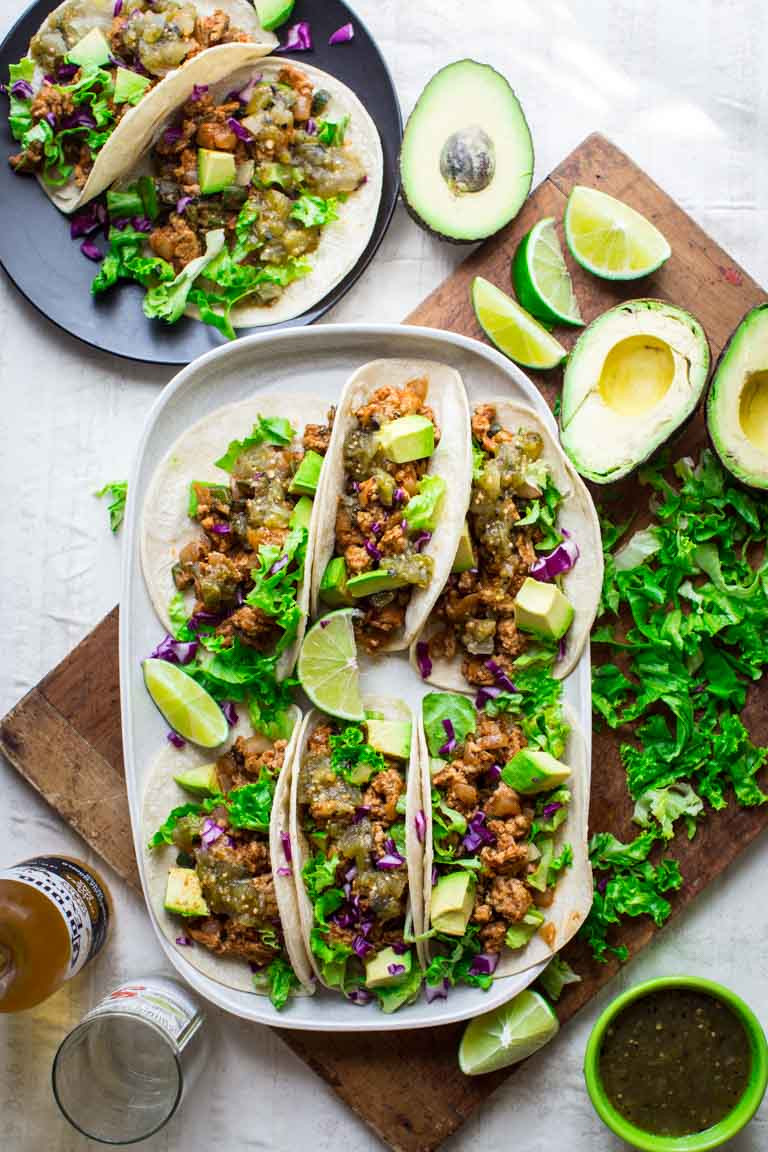 Healthy Ground Chicken Recipes  20 minute ground chicken tacos with poblanos Healthy