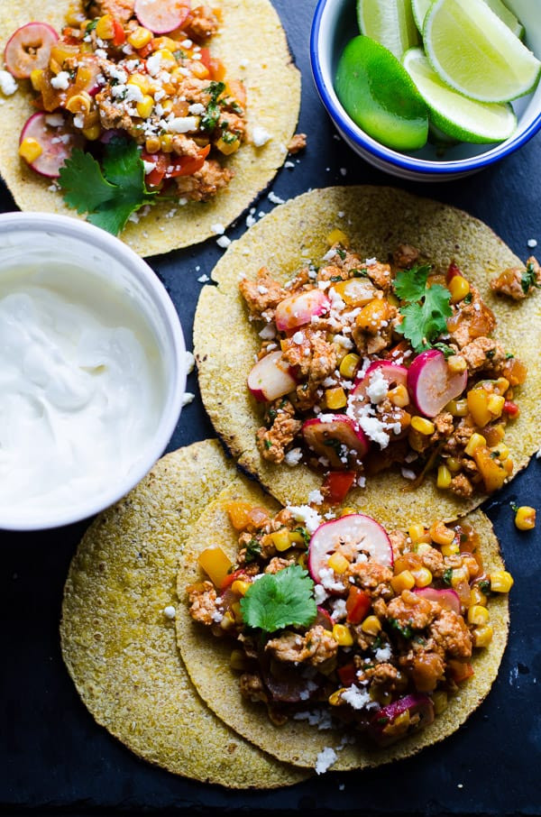 Healthy Ground Chicken Recipes  Ground Chicken Tacos iFOODreal Healthy Family Recipes