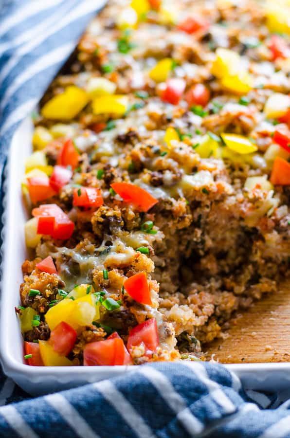 Healthy Ground Turkey Casserole  Ground Turkey Quinoa Casserole iFOODreal Healthy