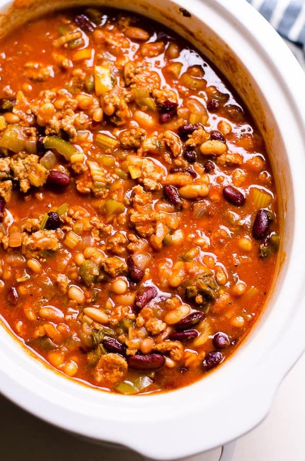 Healthy Ground Turkey Chili  Healthy Chili Recipe iFOODreal Healthy Family Recipes