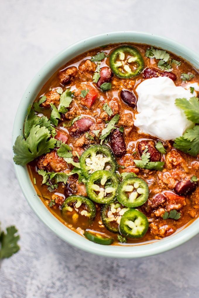 Healthy Ground Turkey Crock Pot Recipes  Crockpot Turkey Chili • Salt & Lavender