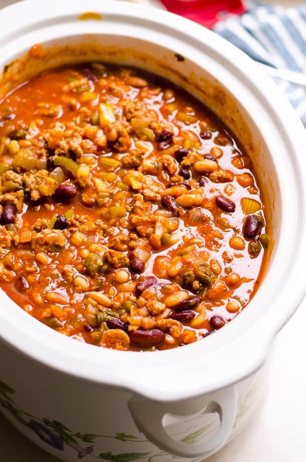 Healthy Ground Turkey Crock Pot Recipes  Healthy Chili Recipe iFOODreal Healthy Family Recipes