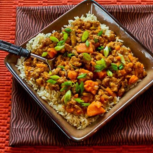 Healthy Ground Turkey Crock Pot Recipes  Slow cooker sweet and spicy ground turkey and sweet potato