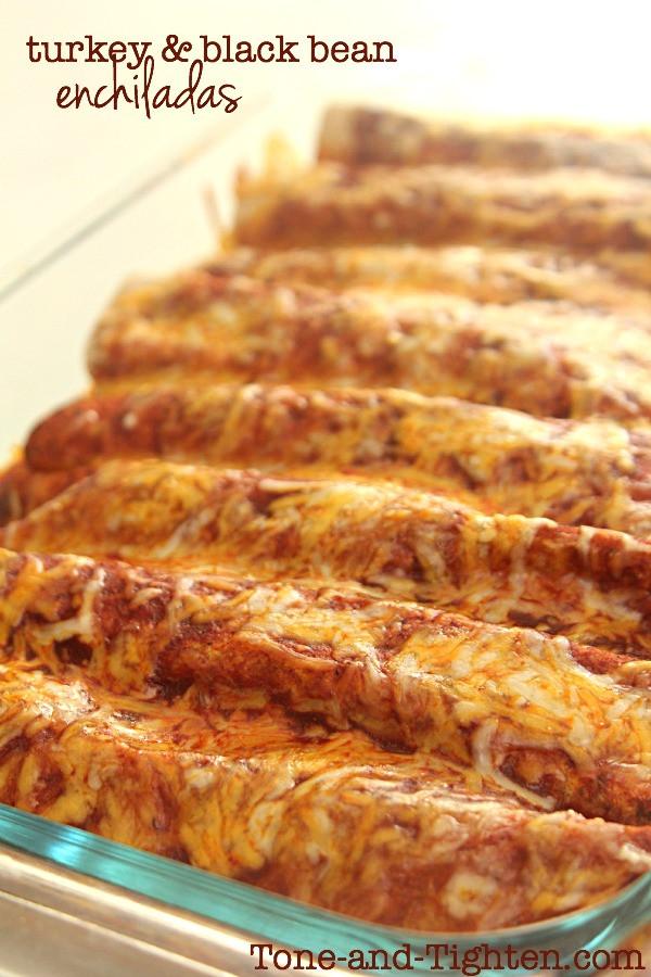 Healthy Ground Turkey Enchiladas  Ground Turkey and Black Bean Enchiladas