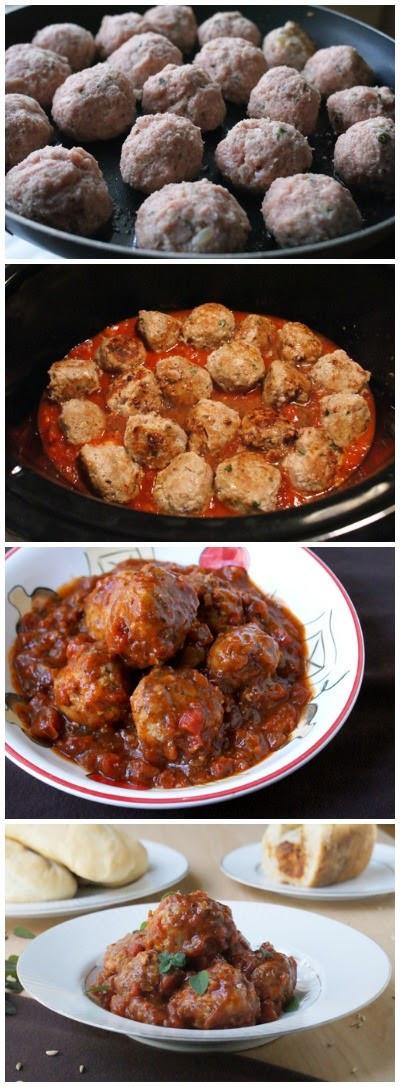 Healthy Ground Turkey Meatballs  Crock Pot Herbed Turkey Meatballs