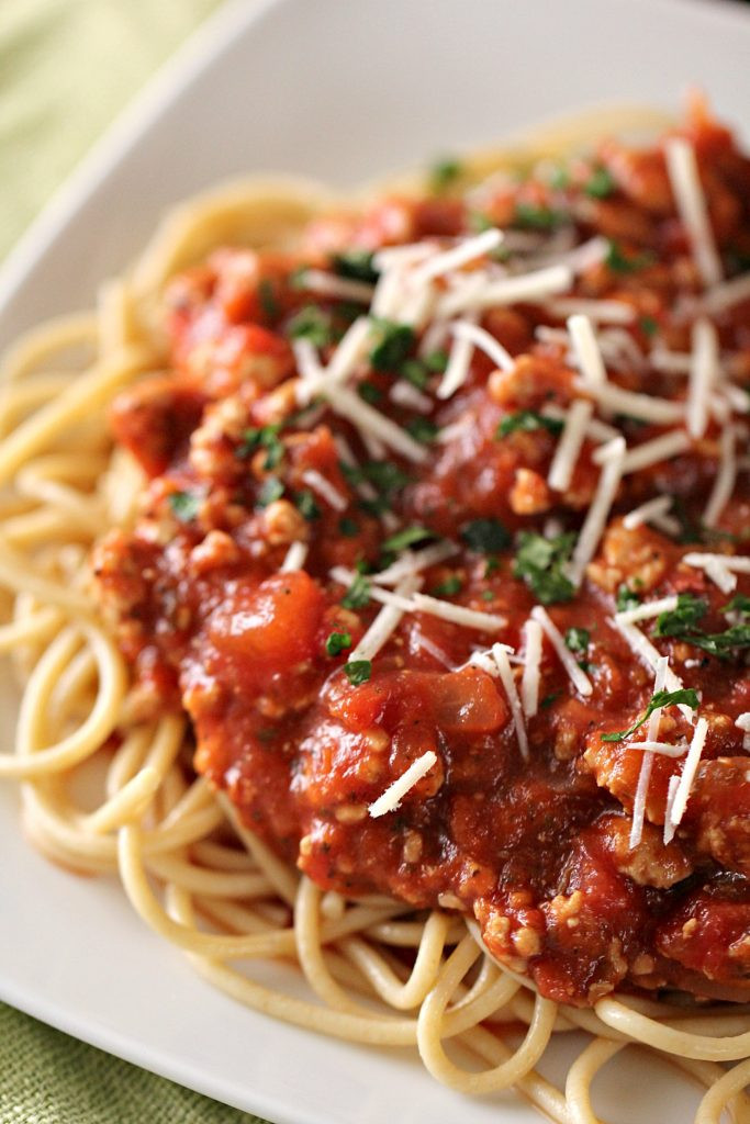 Healthy Ground Turkey Pasta Recipes  Ground Turkey Spaghetti Sauce