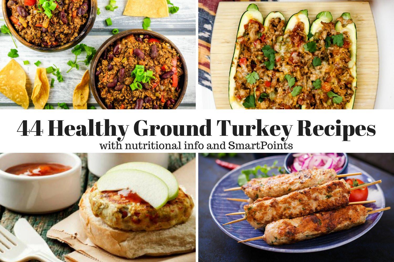 Healthy Ground Turkey Recipe  Forty Four Healthy Ground Turkey Recipes Slender Kitchen