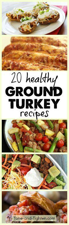 Healthy Ground Turkey Recipes  Healthy ground turkey Ground turkey recipes and Ground