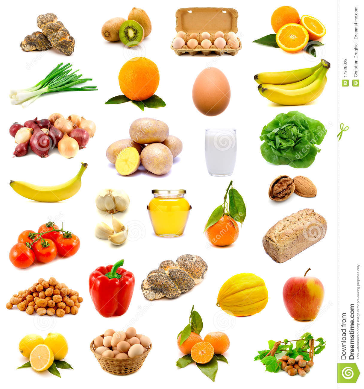 Healthy Group Snacks  Healthy Food Fruits And Ve ables Stock Image Image of