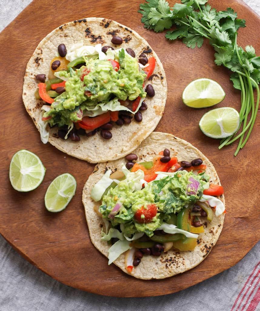 Healthy Guacamole Meals  BLACK BEAN FAJITAS GUACAMOLE THE SIMPLE VEGANISTA