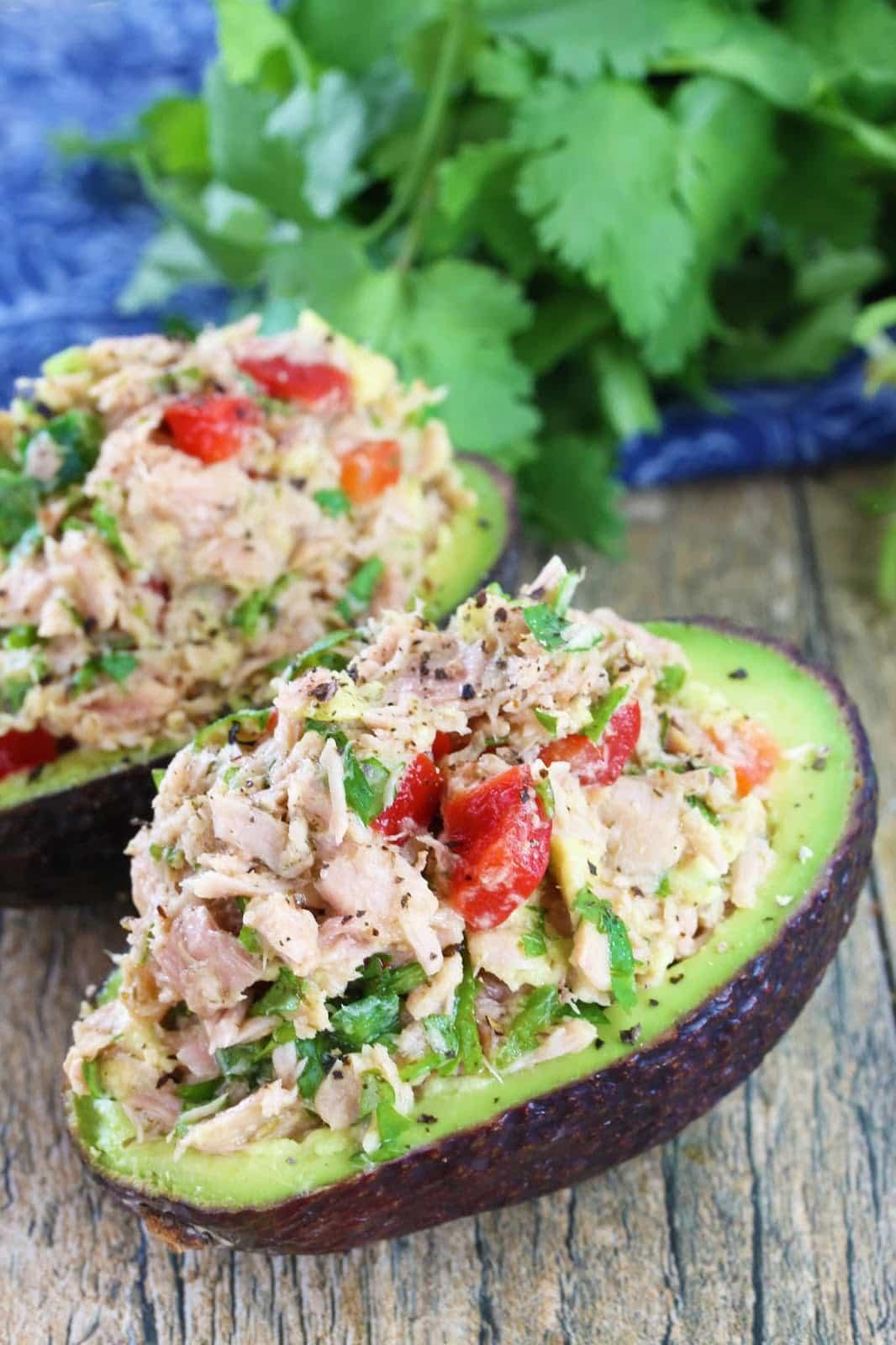 Healthy Guacamole Meals  Healthy Thai Tuna Stuffed Avocado