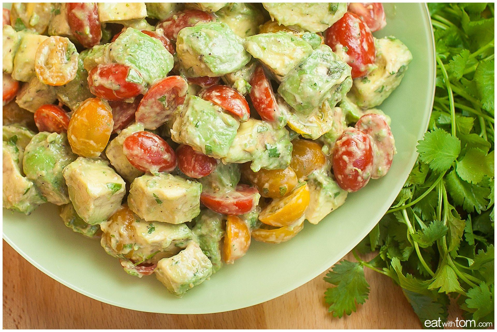 Healthy Guacamole Meals  Limey Avocado Salad Recipe w Grape Tomatoes Eat with Tom