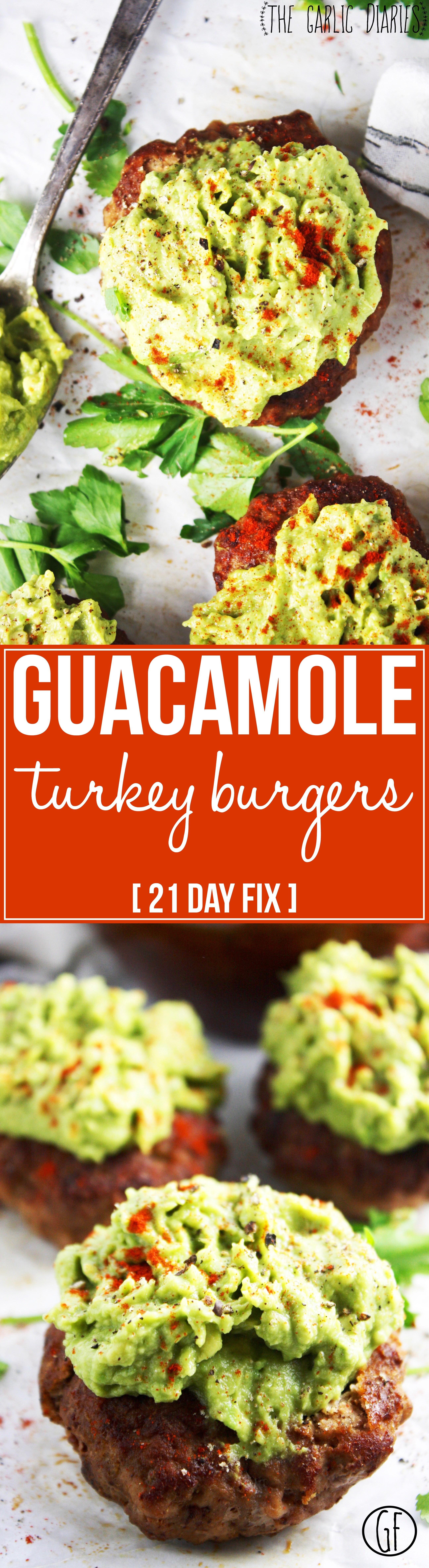 Healthy Guacamole Meals  Guacamole Turkey Burgers [21 Day Fix]
