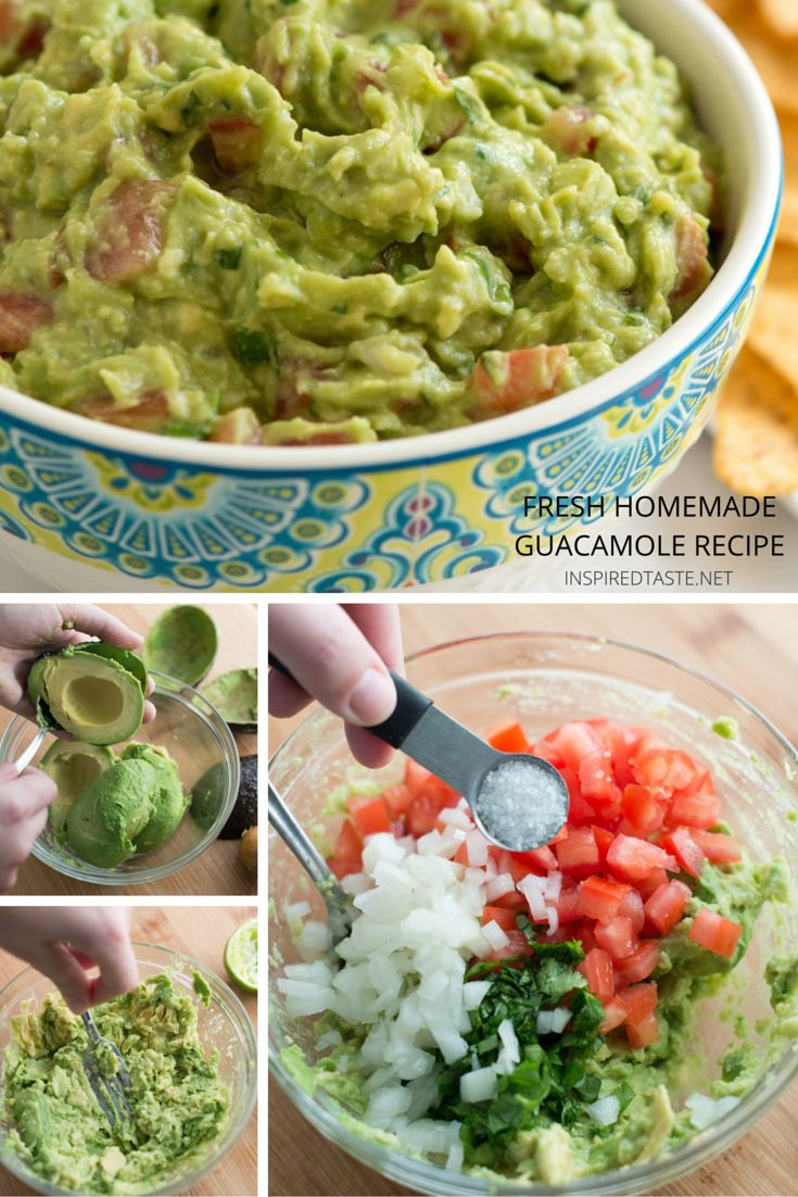 Healthy Guacamole Recipe  25 best ideas about Homemade guacamole on Pinterest