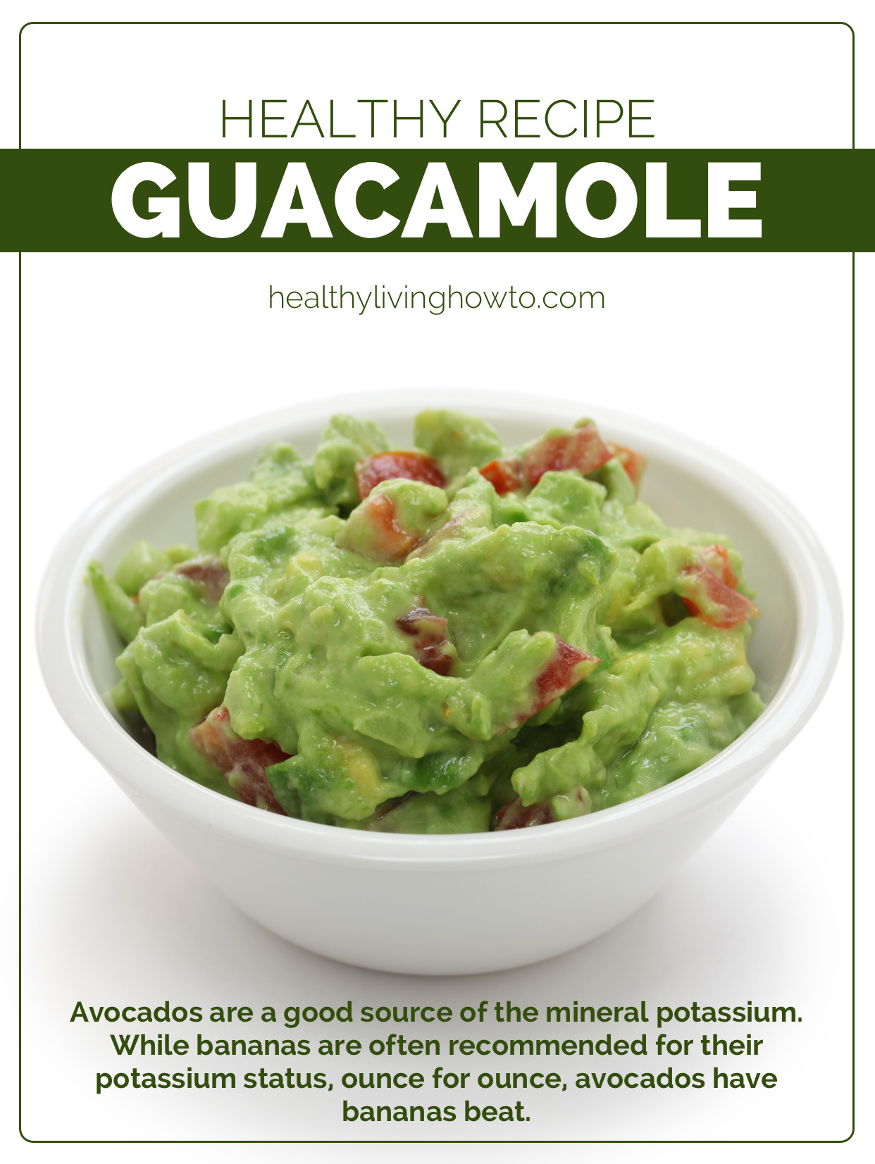 Healthy Guacamole Recipe  healthy guacamole recipe