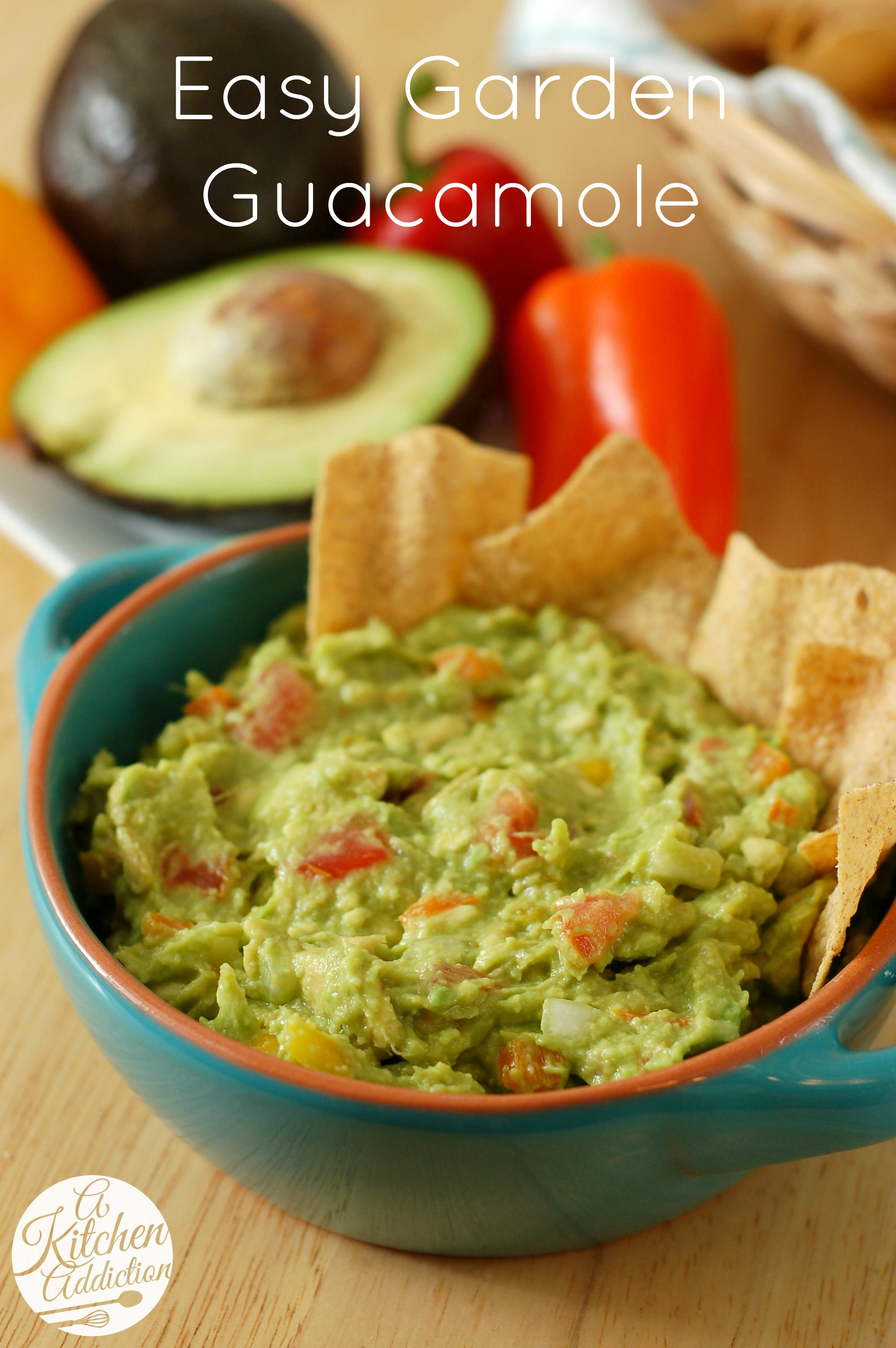 Healthy Guacamole Snacks  Easy Garden Guacamole A Kitchen Addiction