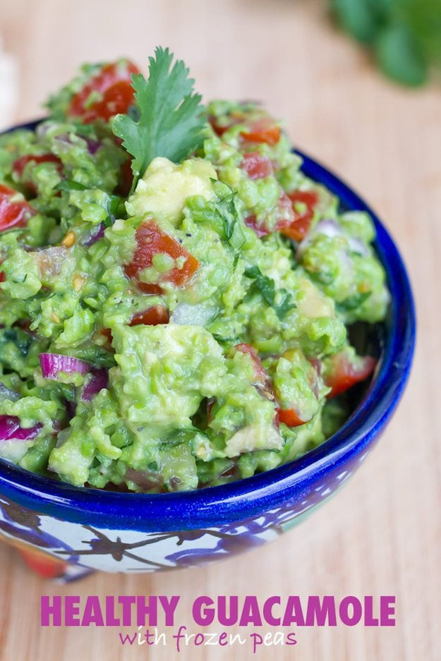 Healthy Guacamole Snacks  Healthy Guacamole with Frozen Peas