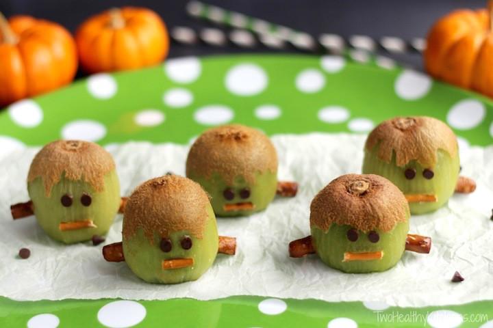 Healthy Halloween Snacks For School  Frankenstein Kiwis – Another Healthy Halloween Treat