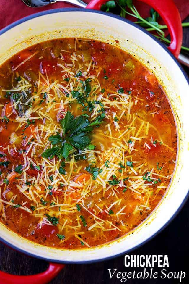 Healthy Hearty Soups  Chickpea Ve able Soup Recipe
