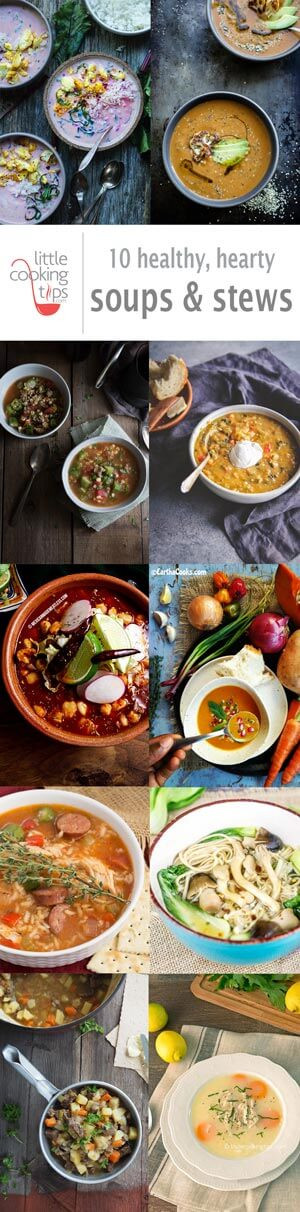 Healthy Hearty Soups  10 healthy hearty soups & stews