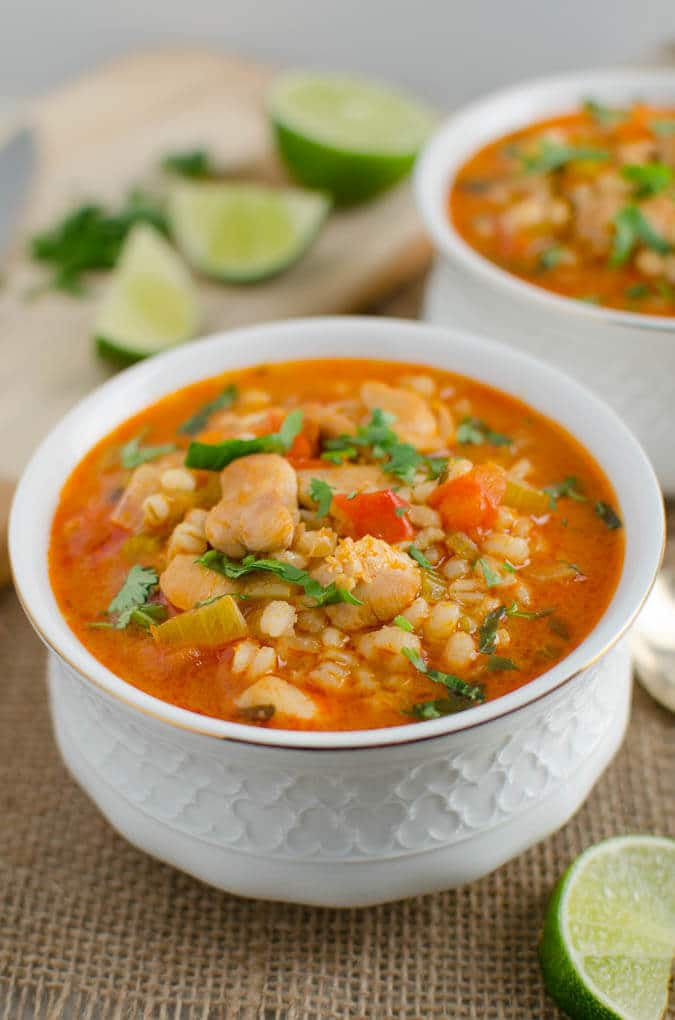 Healthy Hearty Soups  Hearty Healthy Chicken and Barley soup