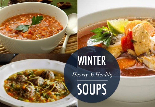 Healthy Hearty Soups  Hearty & Healthy WINTER SOUPS you can cook up right now