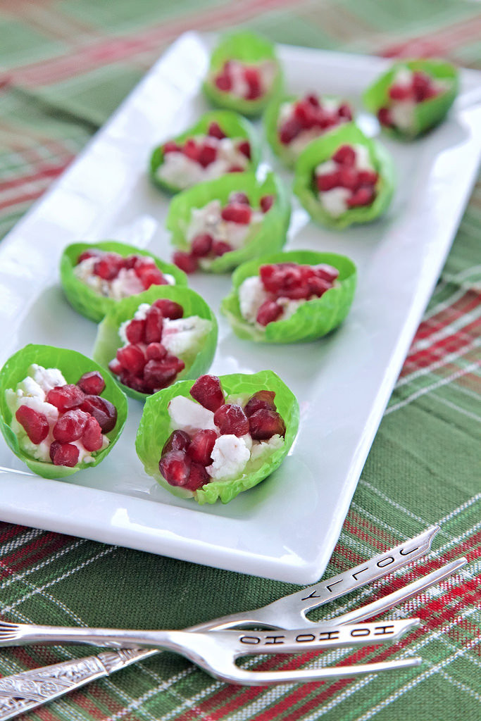 Healthy Holiday Appetizers  Healthy Holiday Appetizers Goat Cheese Brussels Sprouts Bites