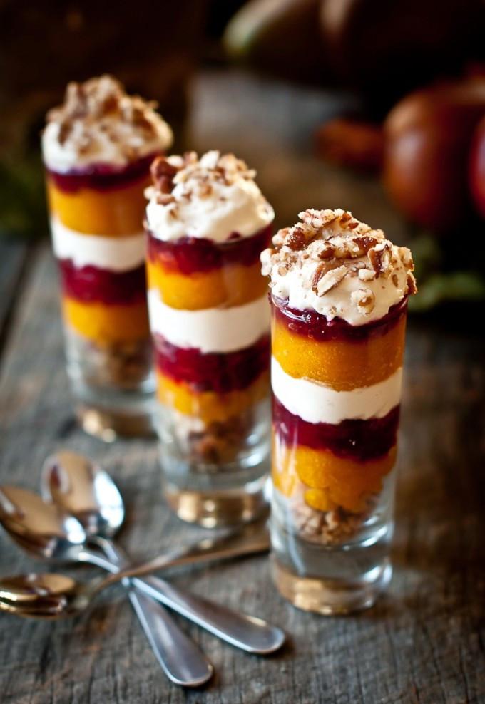 Healthy Holiday Desserts  Ginger Pumpkin Cranberry Parfait Shot – Healthy Christmas