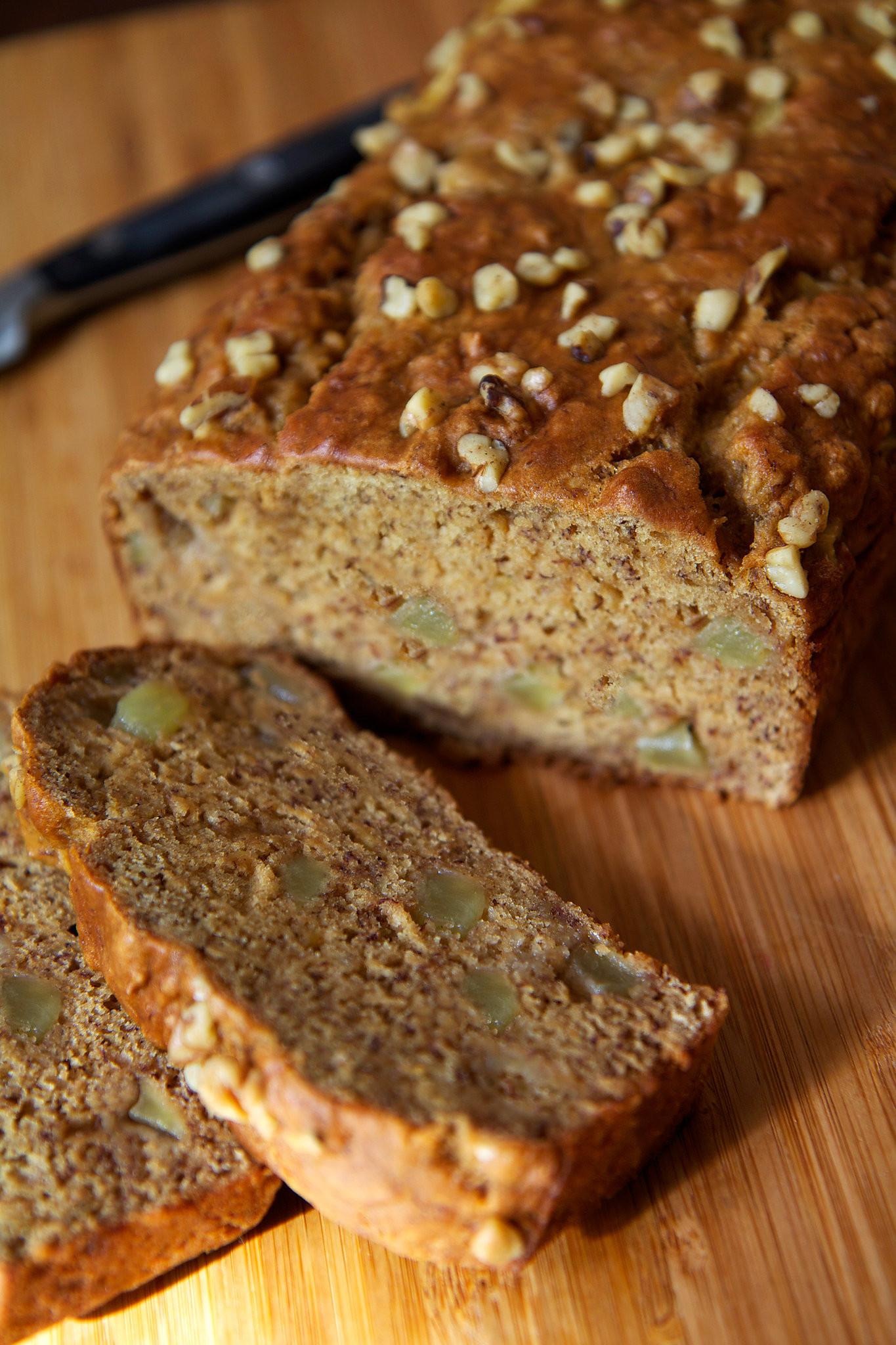 Healthy Homemade Banana Bread  Easy And Healthy Vegan Banana Apple Chunk Bread Recipe