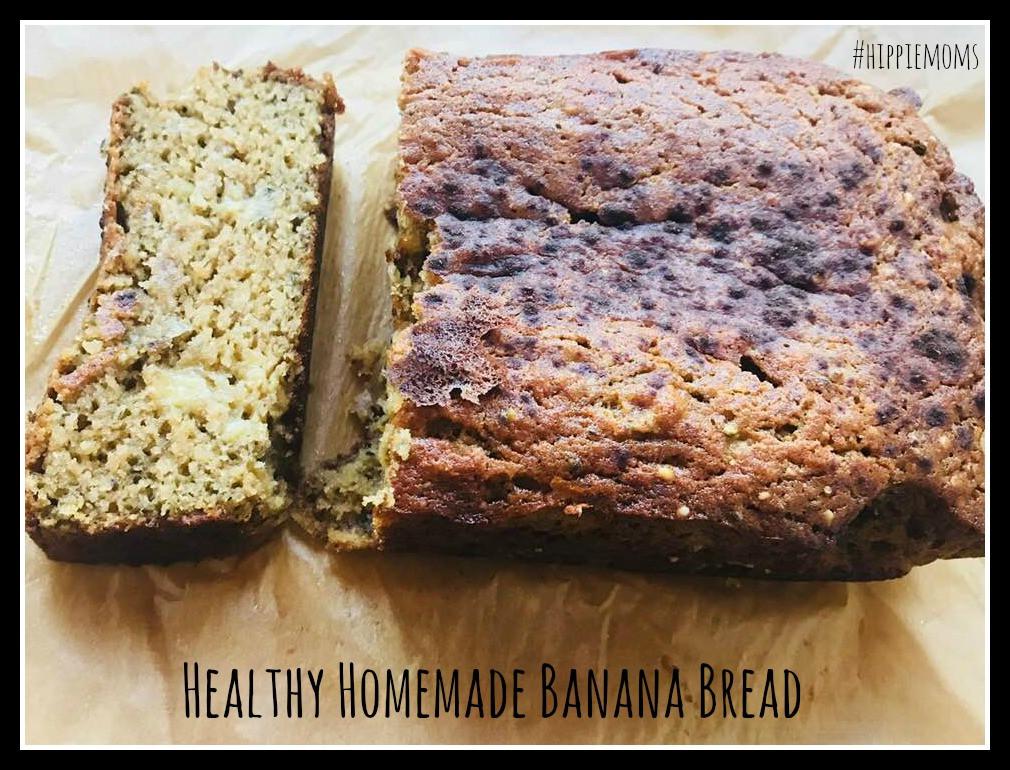 Healthy Homemade Banana Bread  Healthy Homemade Banana Bread Hippie Moms