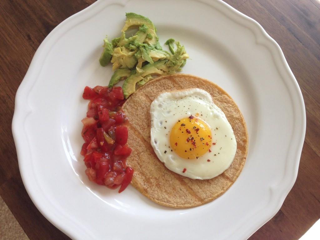 Healthy Homemade Breakfast  Egg Tacos