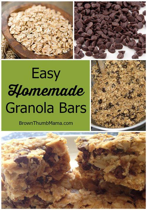 Healthy Homemade Breakfast Bars  Best 25 Healthy homemade granola bars ideas on Pinterest