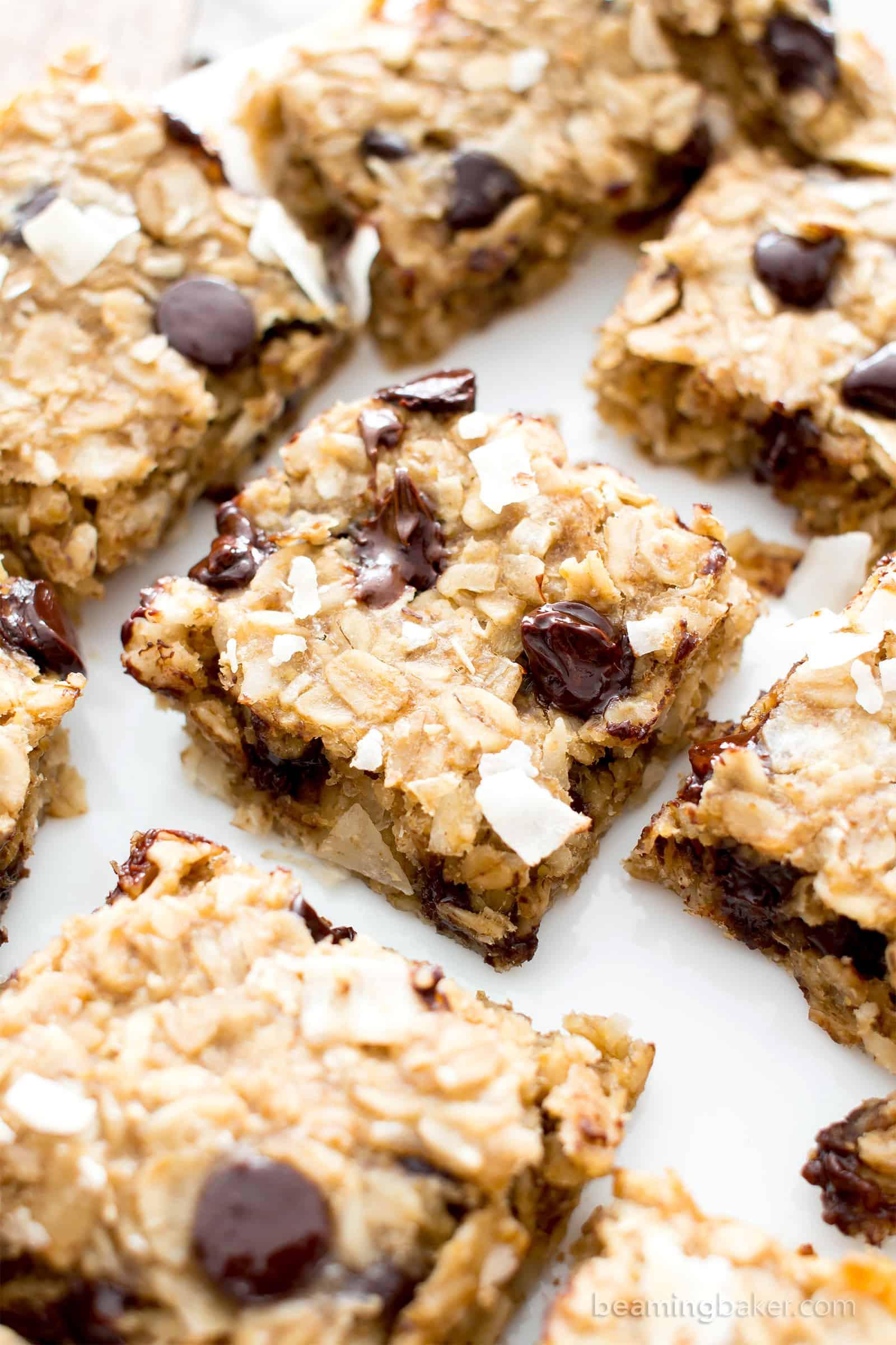 Healthy Homemade Breakfast Bars  Easy Gluten Free Coconut Chocolate Chip Banana Breakfast