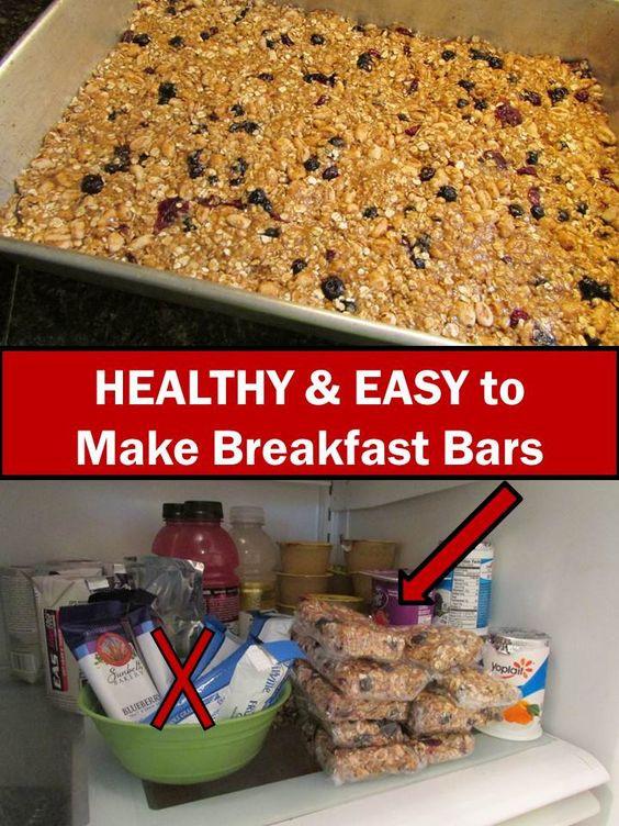 Healthy Homemade Breakfast Bars  Pinterest • The world's catalog of ideas