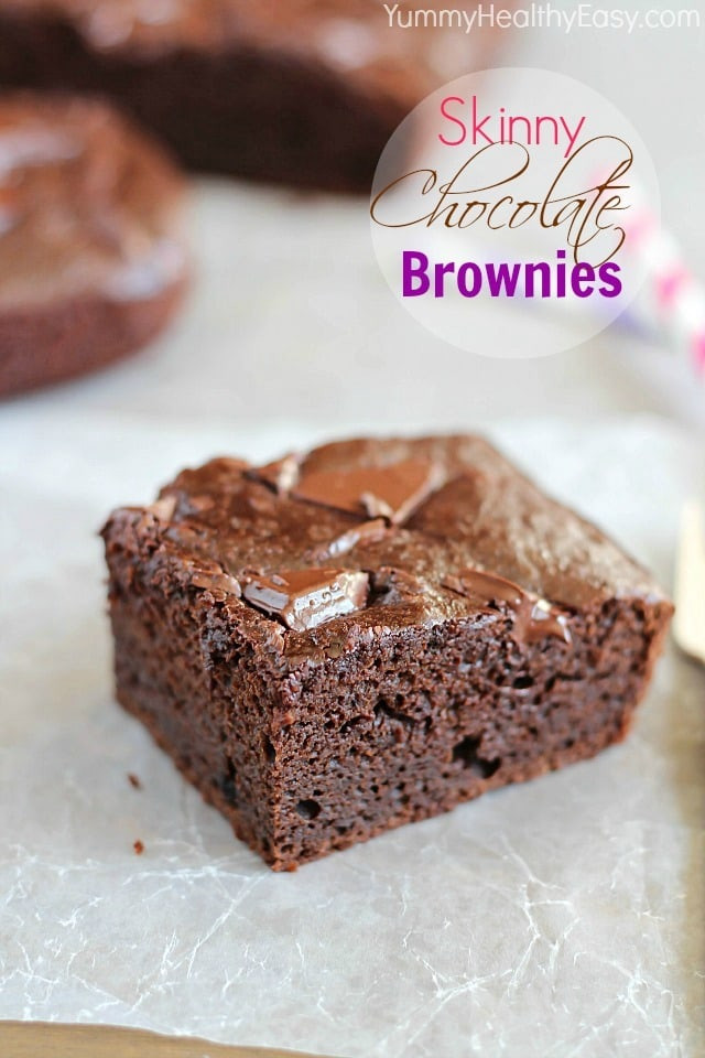 Healthy Homemade Brownies  Skinny Chocolate Brownies Yummy Healthy Easy