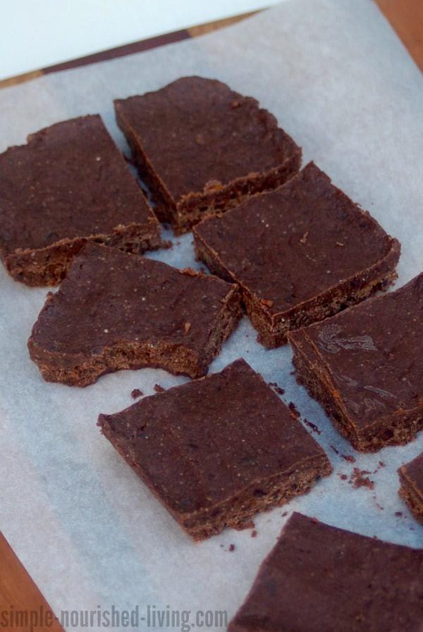 """Healthy Homemade Brownies  Easy Healthy 4 Ingre nt No Bake """"Brownies"""" 5"""
