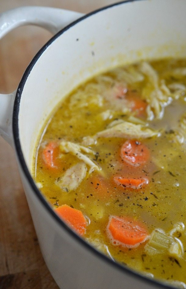 Healthy Homemade Chicken Soup  Easy Chicken Soup Recipe with Lemon and Pepper