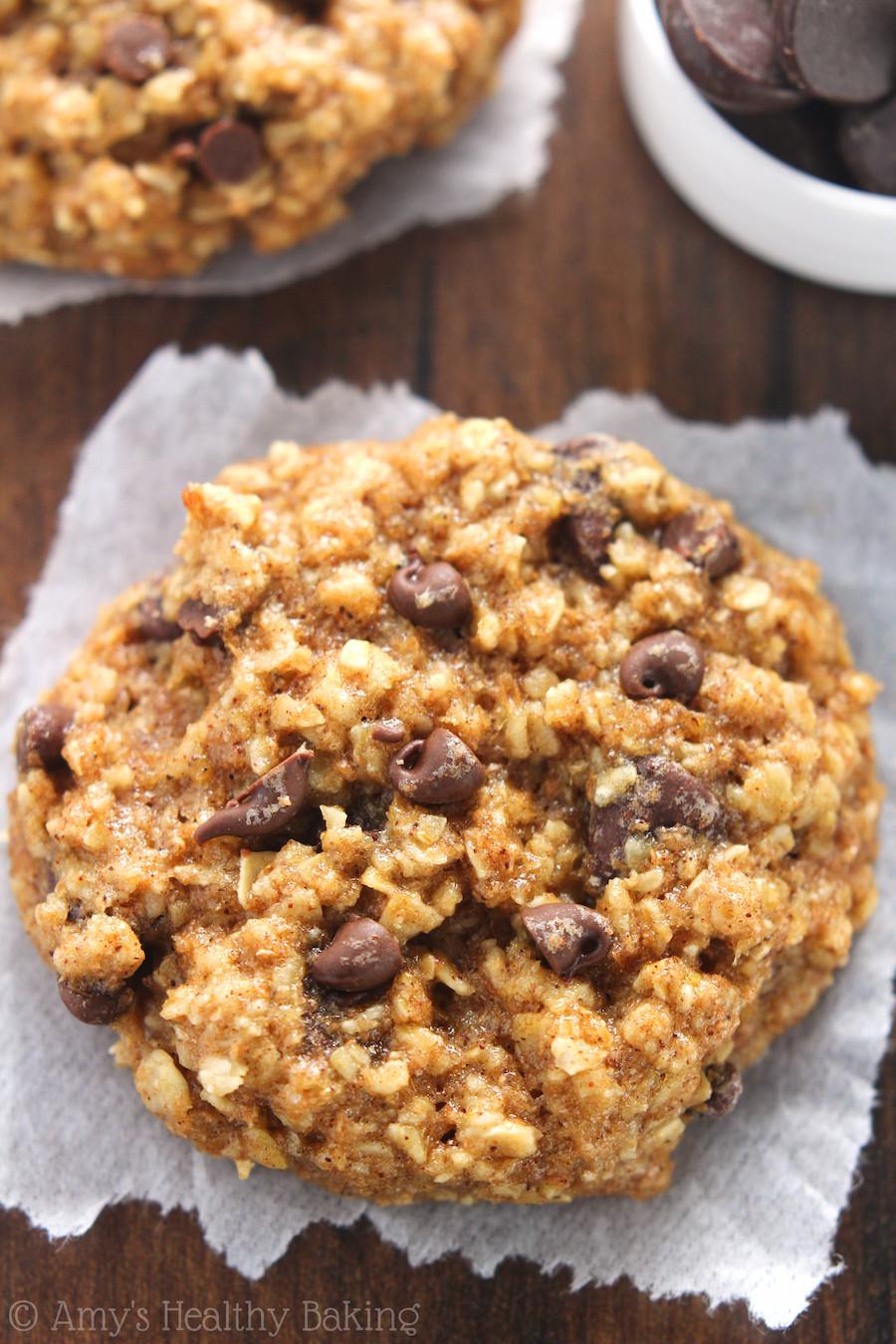 Healthy Homemade Oatmeal Cookies  Chocolate Chip Banana Bread Oatmeal Cookies