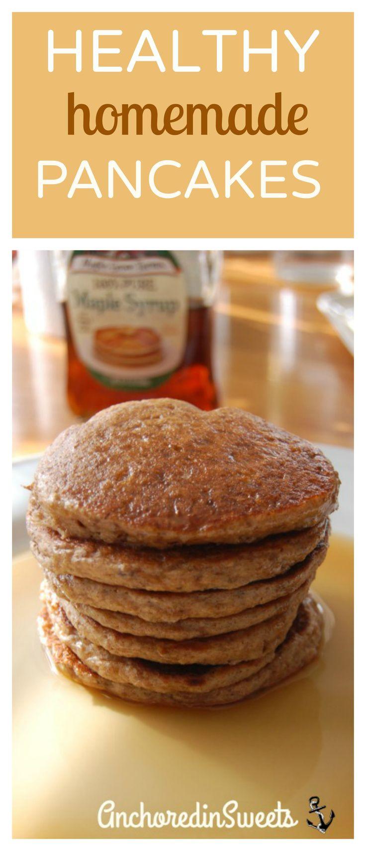Healthy Homemade Pancakes  Homemade Healthy Pancakes AnchoredinSweets you ll