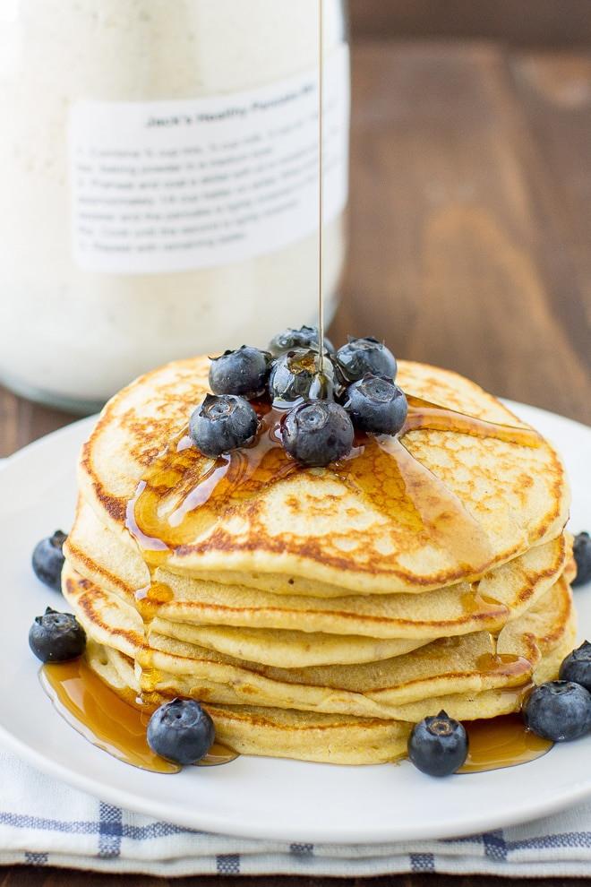 Healthy Homemade Pancakes  Homemade Healthy Pancake Mix