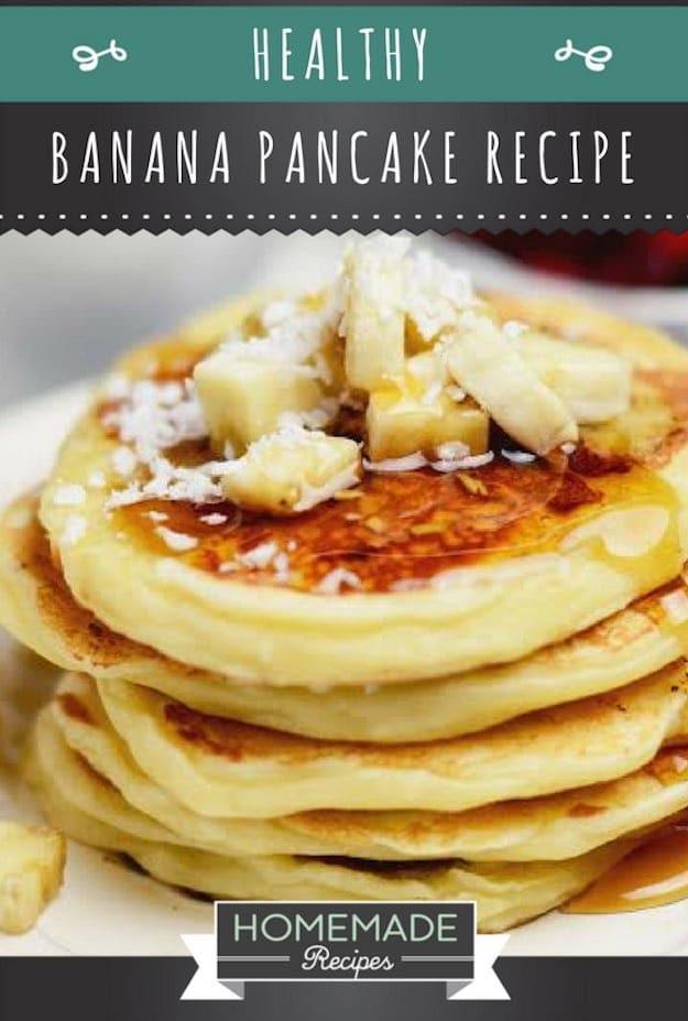Healthy Homemade Pancakes  Easy Healthy Banana Pancake Recipe